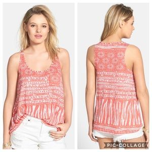 Volcom Seeker Tank peach white medium